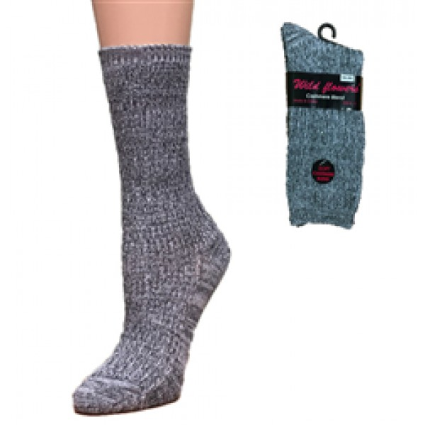 WILD FLOWERS CASHMERE BLEND SOCK- STYLE 642C