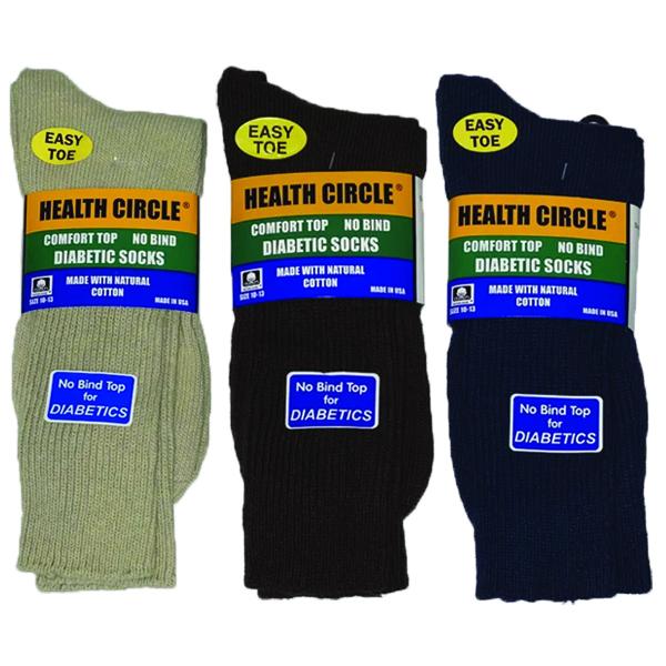 HEALTH CIRCLE MEN'S DIABETIC CREW- STYLE #234ST