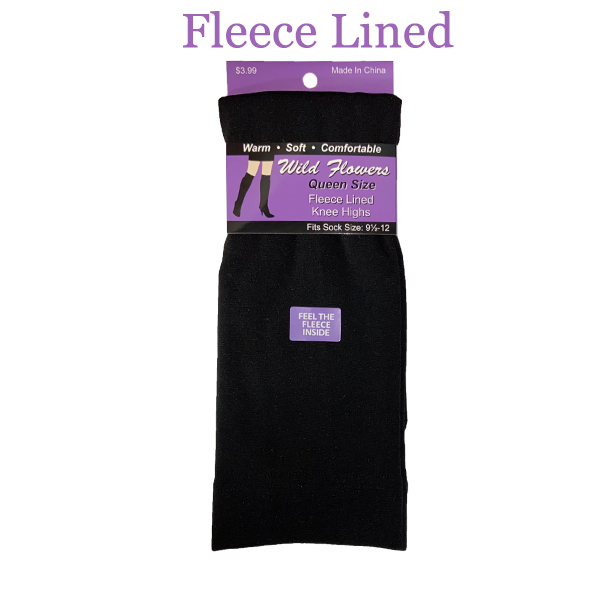 QUEEN SIZE FLEECE LINED KNEE HIGHS STYLE #923FKHQ