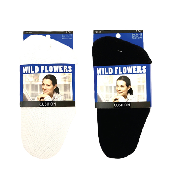 WILD FLOWERS CUSHION LOAFER SOCK STYLE #PED4583